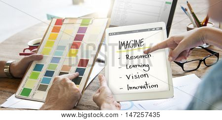 Imagine Education Inspire Learn Diagram Concept