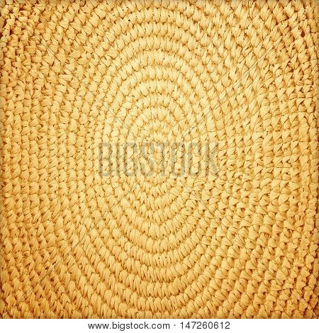 The circle basketry pattern texture background .