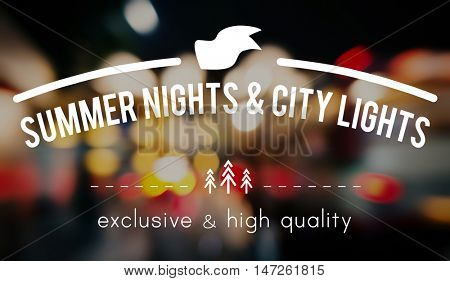 City Lights Night Life Abstract Glow Exposure Concept