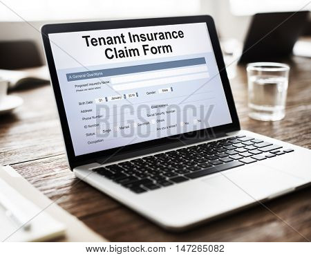 Tenant Insurance Claim Form Concept