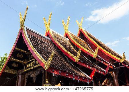 Thai Chapel Wood , Lanna Style art
