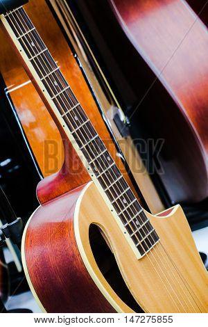 Guitars. Guitar music instruments. Classic guitar. Classic instruments music