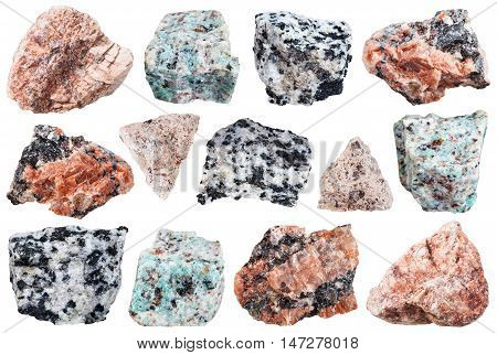Collection From Specimens Of Granite Rock Isolated