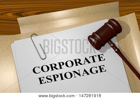 Corporate Espionage - Legal Concept