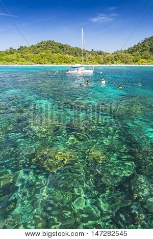 Seascape of Koh Rok island, Krabi, Thailand