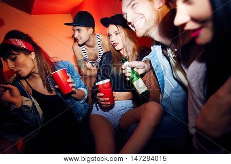 Young People Chilling at Cool Party
