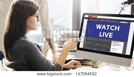Live Broadcast Media News Online Concept