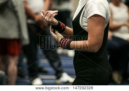 hands magnesia women powerlifter sports wristbands competition powerlifting