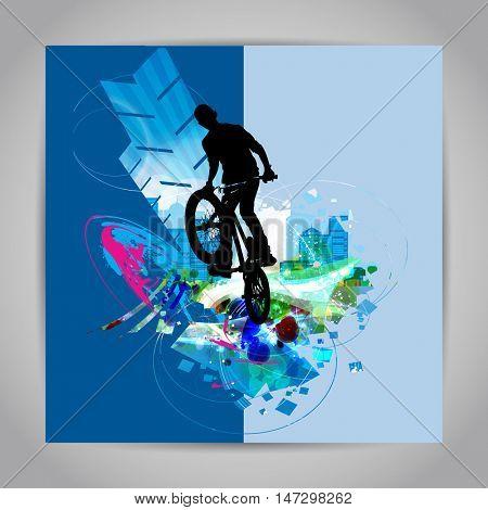 BMX rider. Vector design