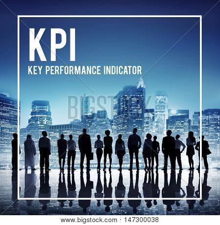 Global Business Team KPI Cityscape Concept