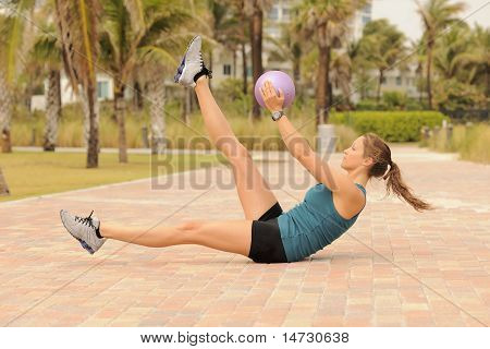 Pilates Exercise With Ball
