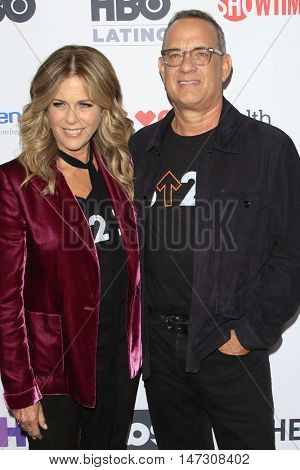 LOS ANGELES - SEP 9:  Rita Wilson, Tom Hanks at the 5th Biennial Stand Up To Cancer at the Walt Disney Concert Hall on September 9, 2016 in Los Angeles, CA