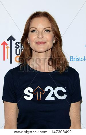 LOS ANGELES - SEP 9:  Marcia Cross at the 5th Biennial Stand Up To Cancer at the Walt Disney Concert Hall on September 9, 2016 in Los Angeles, CA