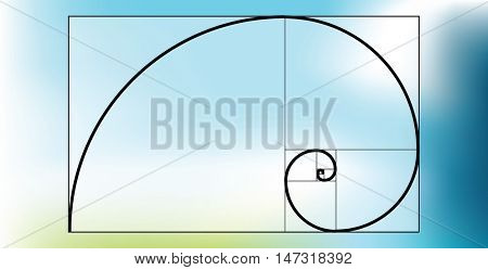 Golden ratio - proportion poster