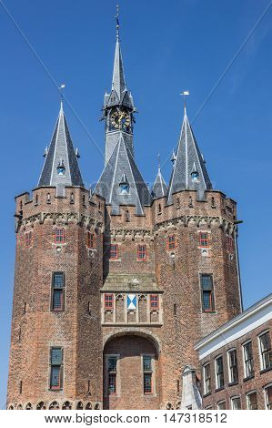 Old City Gate Sassenpoort In The Historical City Of Zwolle