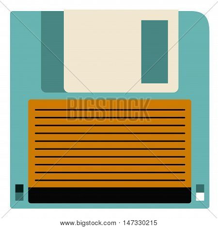 Diskette icon. retro technology gadget and antique theme. Isolated design. Vector illustration