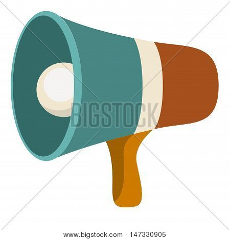 Megaphone icon. retro technology gadget and antique theme. Isolated design. Vector illustration