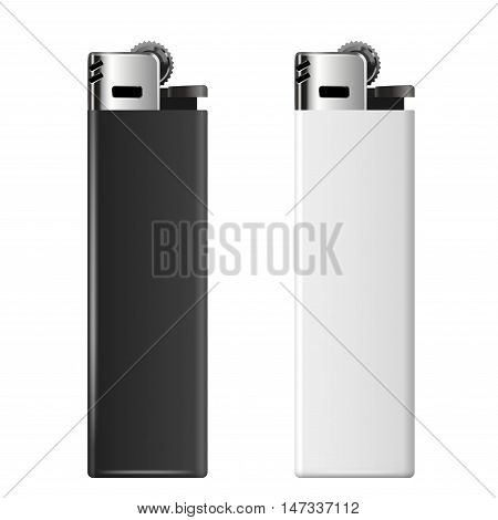 Realistic black and white cheap merchandising lighters