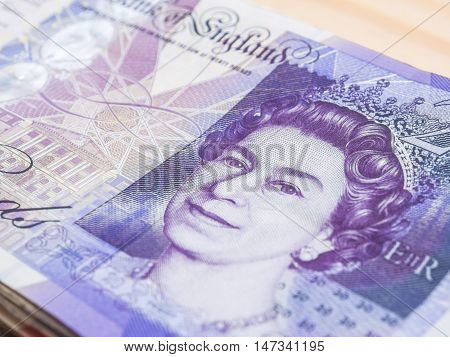 Blurred Pound Note Background Money
