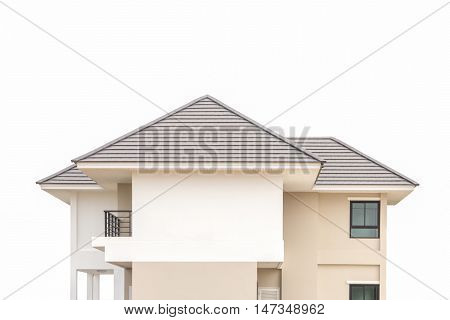 New house roof on a white background.