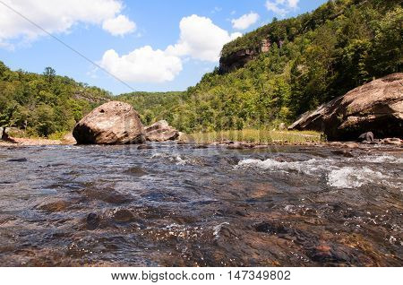 Small rapids on the Big South Fork of the Cumberland River neat Stearns Kentucky.