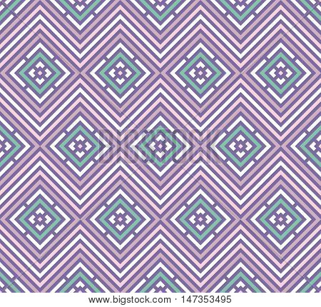 Abstract seamless colorful pattern. Modern stylish background. Repeating geometric tiles with rhombus elements.