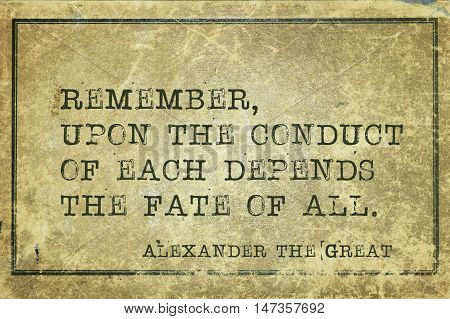 Remember Alexander The Great
