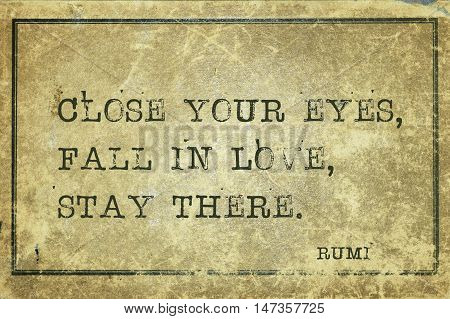Fall In Love Rumi