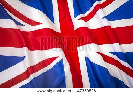 Union Jack Flag. Flag of United Kingdom of Great Britain and Northern Ireland.