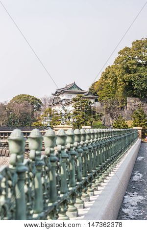The Imperial Palace over the fence, Tokyo