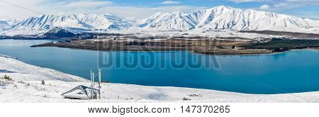 Panoramic View Of  Lake Tekapo, New Zealand