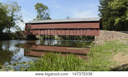 Sach's Covered Bridge in Gettysburg Pennsylvania, USA has been called