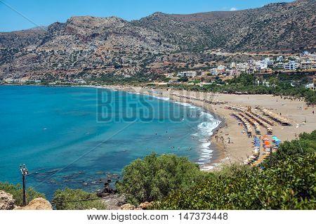 Paleochora beach on Crete island. Greece. Lybian sea