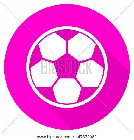 soccer flat pink icon