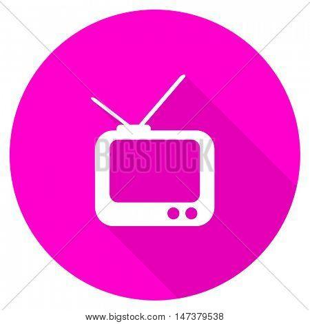 tv flat pink icon