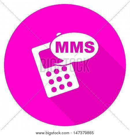 mms flat pink icon