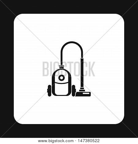 Vacuum cleaner icon in simple style isolated on white background. Home appliances symbol vector illustration