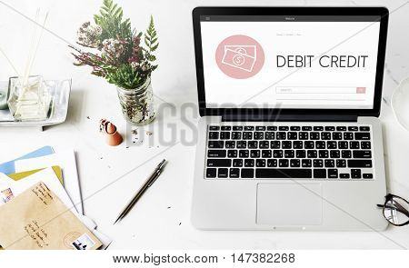 Capitalism Cash Credit Revenue Banking Stock Concept poster