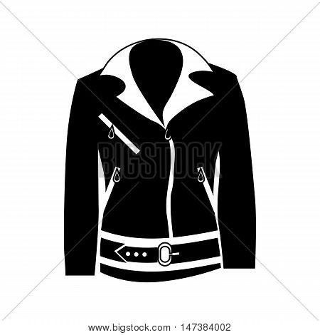 Womens jacket icon in simple style isolated on white background. Clothing symbol vector illustration