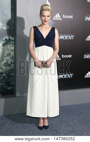 NEW YORK-MAR 16: Author Veronica Roth attends the U.S. premiere of
