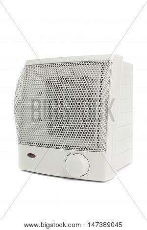 Portative White Air Heater On White Background
