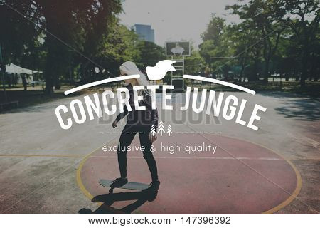 Concrete Jungle Urban Modern Outdoors Concept