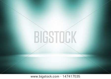 dark green gradient background / beautiful light teal color abstract background / empty room studio background