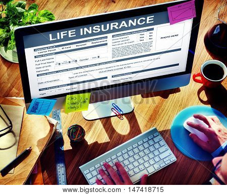 Life Insurance Form Accident Benefits Concept