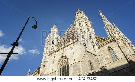 Exterior Detail From St. Stephen's Cathedral , Vienna, Austria