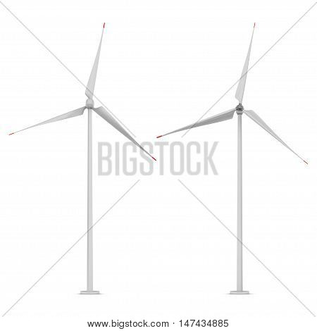 wind turbine isolated on a white background