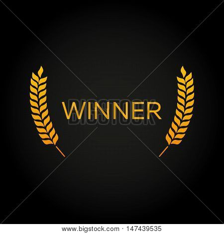 Winner. Laurel. Film Awards Winners. Film awards logo. Cinema. Vector illustration.