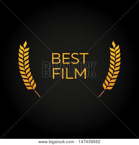 Best film. Laurel. Film Awards Winners. Film awards logo. Cinema. Vector illustration.