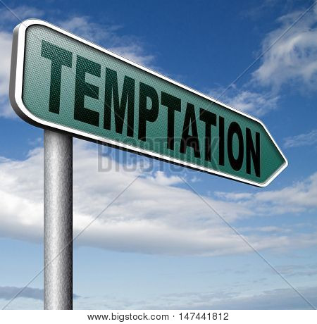 temptation resist devil temptations lose bad habits by self control 3D illustration