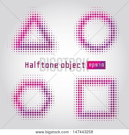 Abstract dotted vector background. Halftone effect. Halftone object